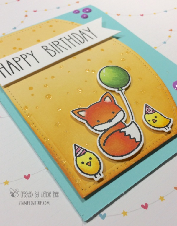 Lawn Fawnatics Challenge Happy Birthday Stamp Right Up Wendie Bee Into The Woods Party Animals Close Up