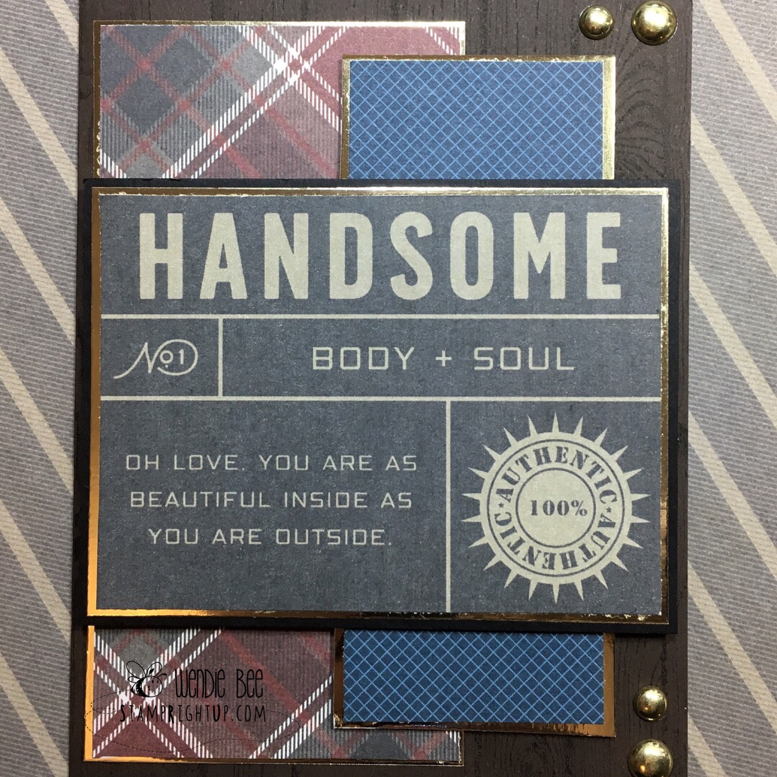 PhotoPlay Paper Man card masculine card Stamp Right Up