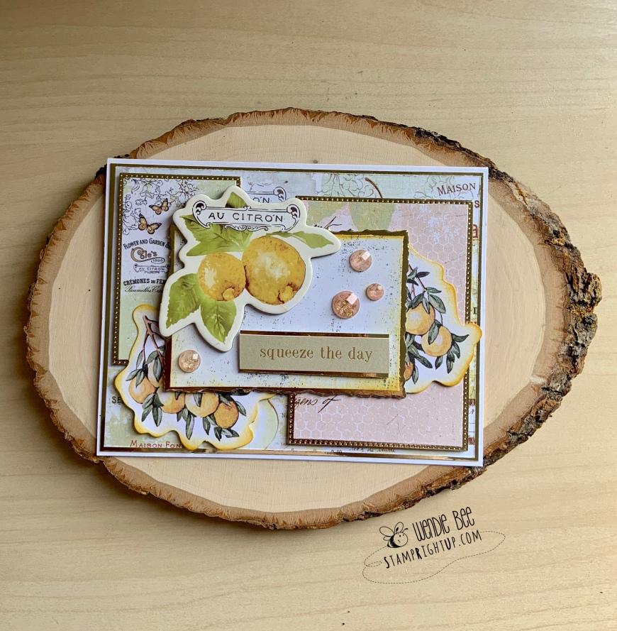 Prima Marketing Fruit Paradise Card by Wendie Bee