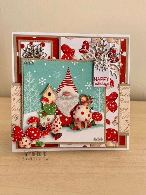 It's Snome Time Card by Wendie Bee Stamp Right Up